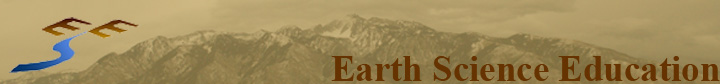 Earth Science Education logo and mountains